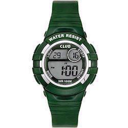 Club Time Grøn Gummi Quartz Drenge ur fra Club Time, A47101GR12E