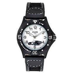 Club Sort Plastik Quartz Drenge ur fra Club Time, A65167SS0A