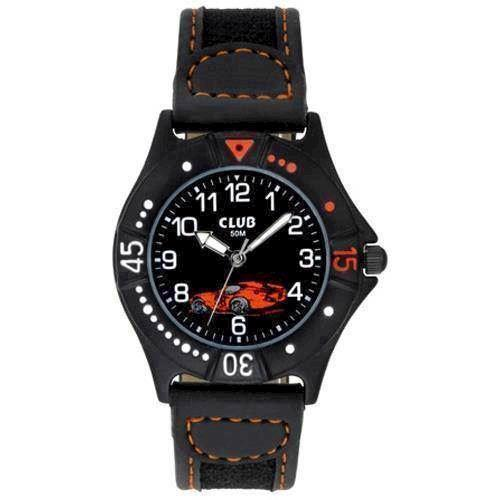 Club Sort Plastik Quartz Drenge ur fra Club Time, A65167SS5A