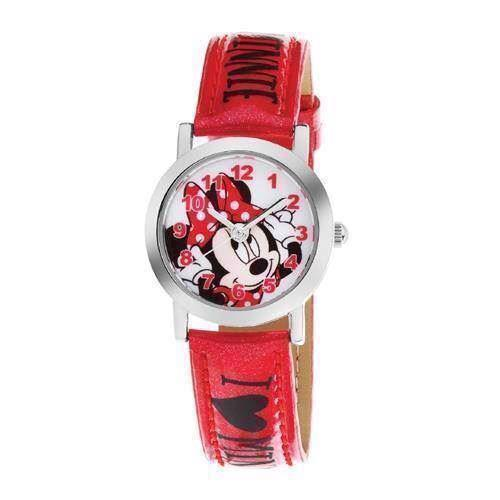 Minnie Mouse rustfri stål Quartz Pige ur fra Club Time, DP140-K269
